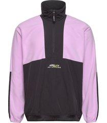 adventure polar fleece colorblock half-zip jacket sweat-shirts & hoodies fleeces & midlayers svart adidas originals