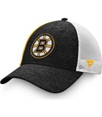 authentic nhl headwear boston bruins locker room trucker cap