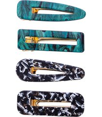 4-piece geneva hair clip set
