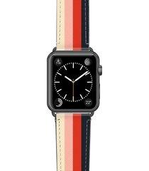 casetify rad retro saffiano faux leather apple watch strap