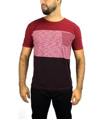 camiseta bloques vinotinto para hombre delascar ts020