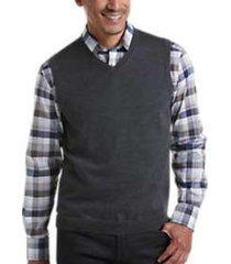 joseph abboud charcoal 37.5® technology v-neck sweater vest