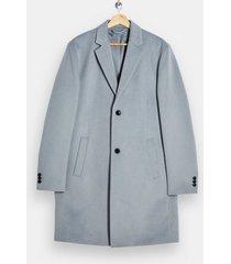 mens blue classic fit overcoat