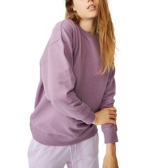 women's dad peached maxi crew sweater