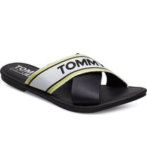 susy 8c shoes summer shoes flat sandals svart tommy hilfiger
