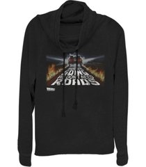 fifth sun back to the future we don't need roads cowl neck sweater