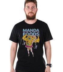 camiseta bandup! bdp clothing manda foods masculina