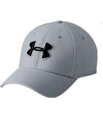 gorra running under armour blitzing 3.0 hombre gris