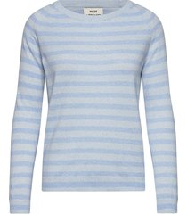 cosy recy stripe kaxa stripe t-shirts & tops long-sleeved blauw mads nørgaard