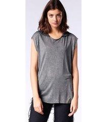 blusa diesel t-drop-a   feminina preto