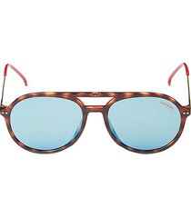 53mm faux tortoiseshell round sunglasses