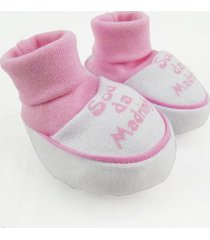 pantufa bebê feminina suedine sou da madrinha rosa