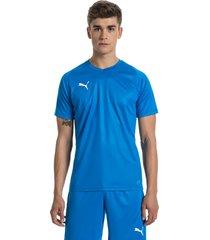 liga core shirt voor heren, blauw/wit, maat s | puma