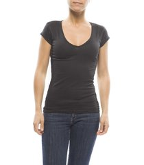 claesens ladies t-shirt v- neck s/s black