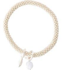 armband a beautiful story jacky blue lace agate feather silver plated bracelet