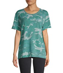 camouflage cotton-blend tee