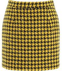 alessandra rich houndstooth mini skirt