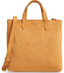 madewell the zip-top transport corduroy suede crossbody bag -