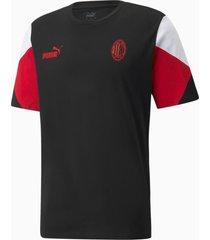 acm ftblculture voetbal-t-shirt voor heren, rood/zwart, maat l | puma