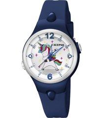 reloj sweet time azul oscuro calypso