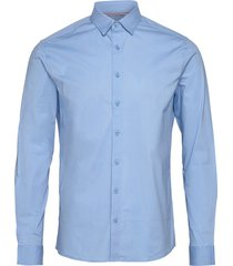 6190123, shirt - sdtyler ls skjorta casual blå solid