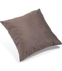 almofada bela estofados, confiare, bege veludo, 42 x 42 cm