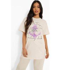 petite st tropez anchor t-shirt met tekst, stone