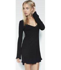 kyle v-neck dress - xs black