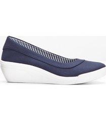 ballerina con zeppa (blu) - bpc bonprix collection
