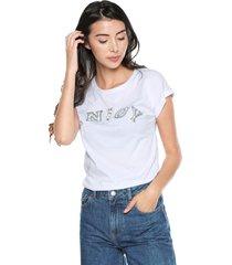 camiseta blanco-plateado arkitect éxito