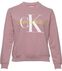 plus vegetable dye monogram cn sweat-shirt trui roze calvin klein jeans