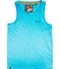 blauw superdry m60105rt aqu tank top