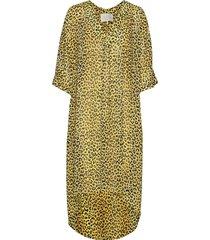 haim recycled kaftan maxiklänning festklänning gul notes du nord
