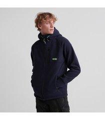 buzo hoodie abierto para hombre polar fleece ziphood superdry