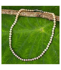 cultured pearl strand necklace, 'natural sweetness' (thailand)