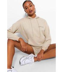 signature oversized hoodie voor dames, zand