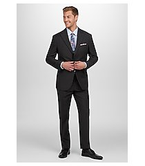 1905 collection tailored fit textured stripe men's suit - big & tall by jos. a. bank