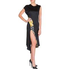 vestito abito donna al ginocchio manica corta savage barocco