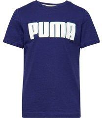 alpha graphic tee b t-shirts short-sleeved blå puma
