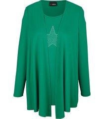 2-in-1-shirt miamoda groen
