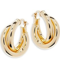 14k gold donut hoop earrings
