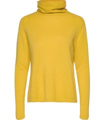 fold neck sweater turtleneck coltrui geel davida cashmere
