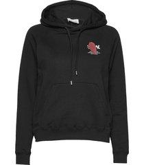 lara hoodie hoodie trui zwart wood wood