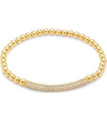 adriana orsini women's goldtone & pavé crystal bar stretch bracelet