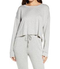 women's socialite crewneck pullover, size small - grey