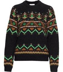 asta sweater stickad tröja multi/mönstrad wood wood