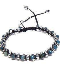 pulsera de hombre azul filo crochet pietre blu man colection by vestopazzo