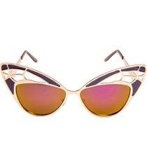 women's rad + refined butterfly sunglasses - purple/ gold