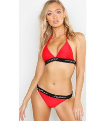 mix & match string voor dames, rood