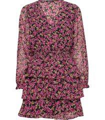 alexandra dress knälång klänning rosa gina tricot